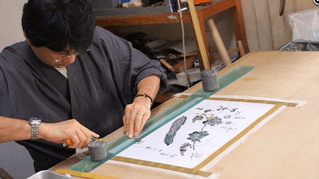 The Story of a 4th Generation Japanese Scroll Mounter