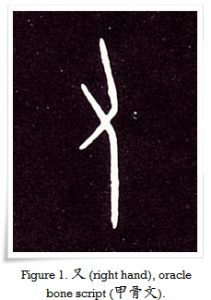 Figure 1. 又 (right hand), oracle bone script (甲骨文).