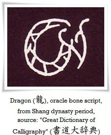 Dragon oracle bone script 16 - Calligraphy Styles
